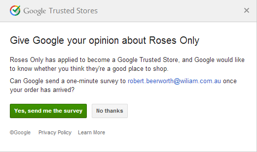 A Google Survey... coming to you in the near future