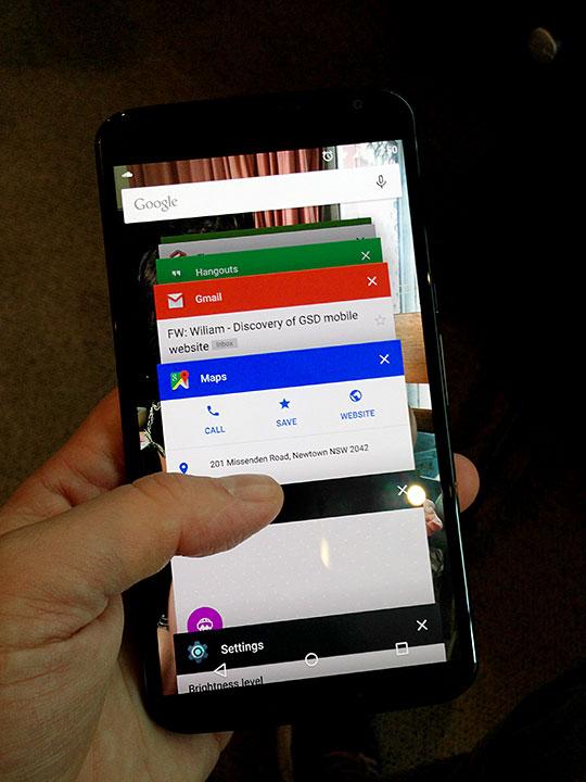 Nexus 6 task switcher