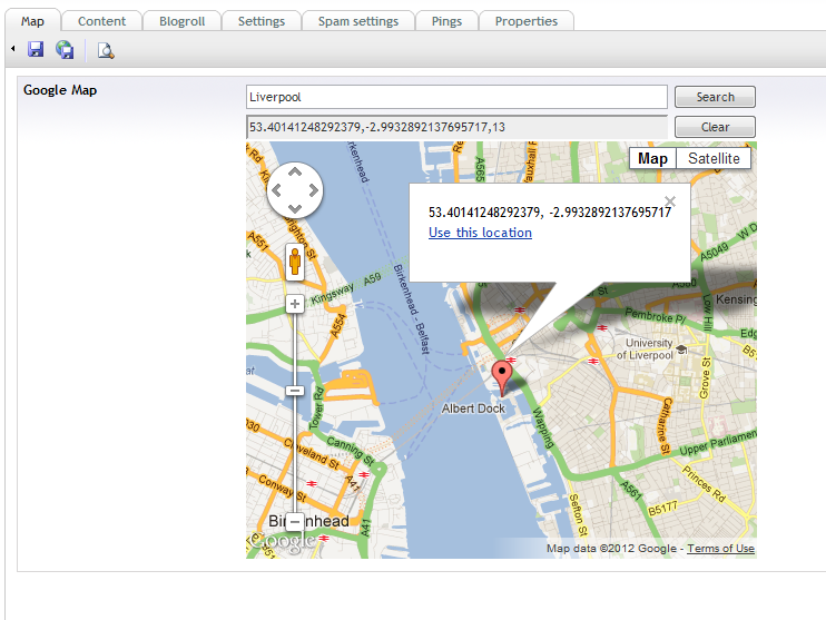 Umbraco - Google Maps DataType