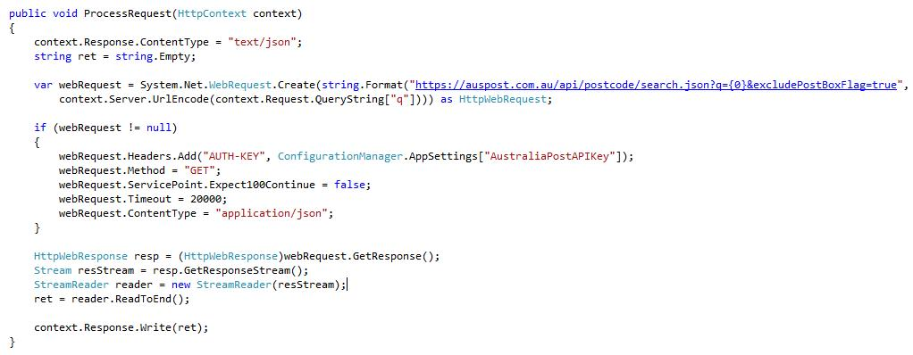 for the attributes passed in the data block in the jquery below that is excludepostboxflag and q and return an action result of json