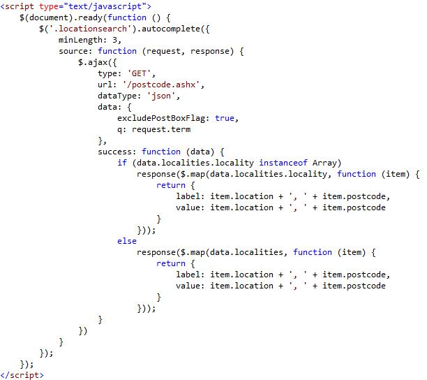 the api can return json or xml but in this instance we want json xml would be useful if you were doing pure server side code as you could use linq to xml