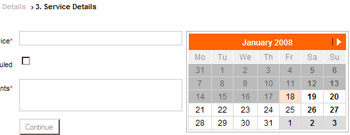 Picking dates with JQuery