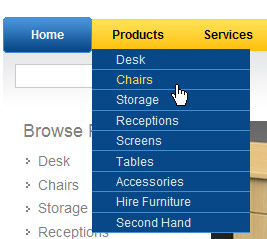 Accessible menus with JQuery