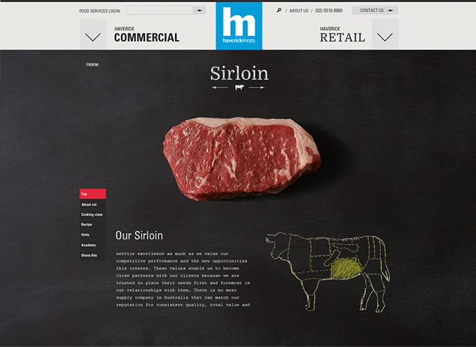 Website design Haverick Meats