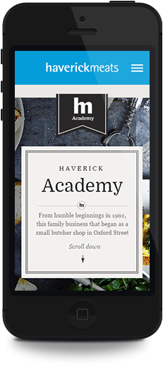 Mobile Website design Haverick Meats