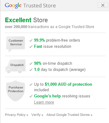 Google Trusted Websites are a sign of the times...